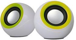 "OMEGA Lautsprecher ""OG-116"" für PC 2.0 weiß/grün"