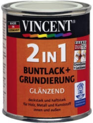 Vincent 2in1 Buntlack lichtgrau 0,125 L