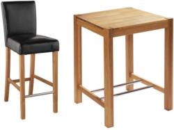 Set »Bogart/Tom« (80 x 80 cm, 4 Stühle, schwarz)