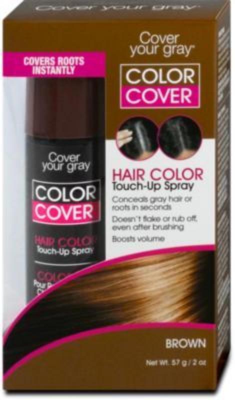 Cover your gray Hair Color Touch-Up Spray Grauhaarabdeckung -Braun für Damen