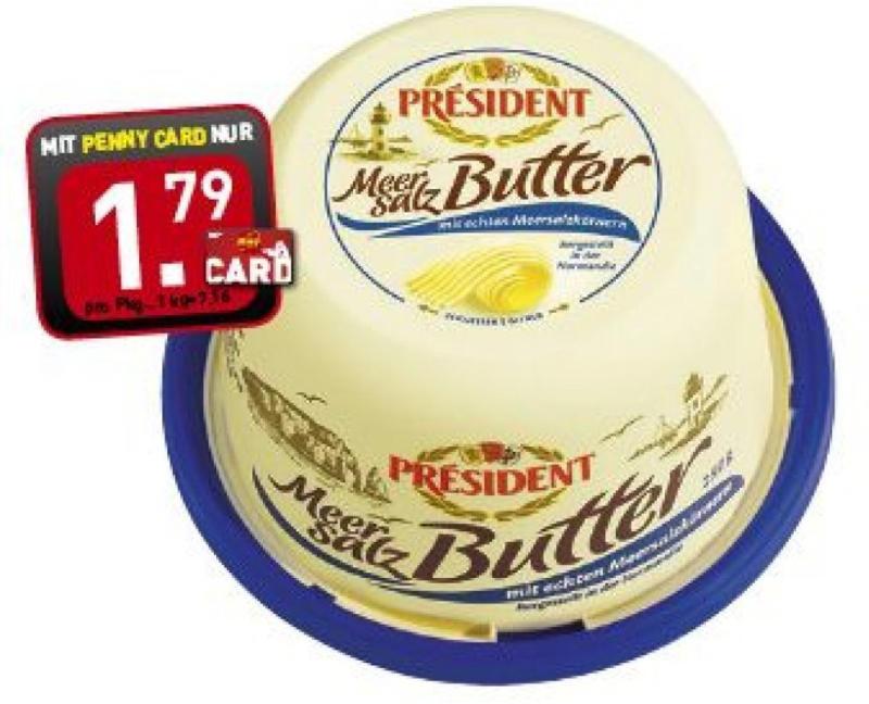 Président Butter mit Meersalz