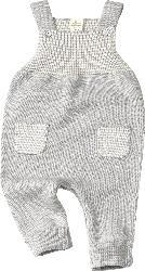 ALANA Baby-Latzhose, Gr. 80, in Bio-Baumwolle, grau, natur, für Mädchen und Jungen
