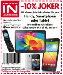 -10% JOKER für Handy, Smartphone oder Tablet