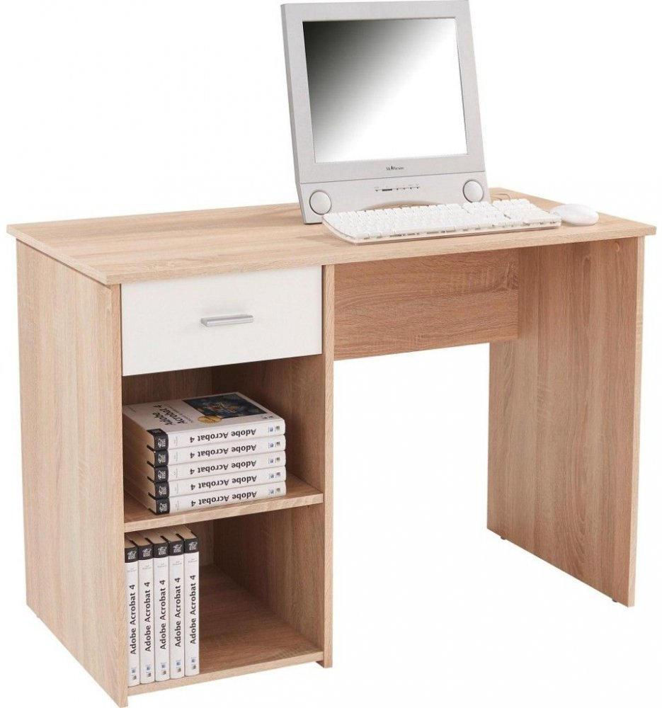 Schreibtisch Kubek Sonoma Eiche, Weiß nur € 44,95 statt € ...