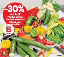 -30% auf ALLE Paprika, Gurken, Zucchini, Melanzani