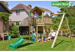 Spielturm Jungle Cottage inkl. Schaukel und Rutschstange Kieferfarben