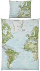Bettwäsche World Map Multicolor