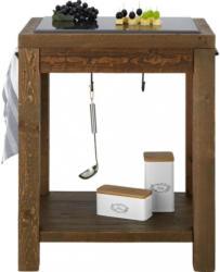 Küchenarbeitstisch aus Echtholz