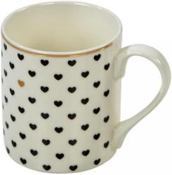 Kaffeebecher Lilly Schwarz, Weiß