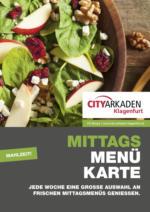 City Arkaden Mittagsmenü - gültig bis 2.3.2019