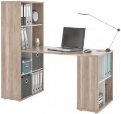 Schreibtisch Quattro Eichefarben, Weiß