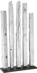 Raumteiler aus Echtholz Silberfarben