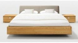 Nox Bett mit Lederkopfteil Weiß 180 x 200 cm