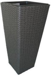 Pflanzgefäß Polyrattan anthrazit 60 cm