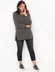 Samoon T-Shirt Langarm Rundhals »Longshirt aus Struktur-Jersey«