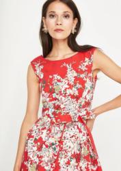 COMMA Elegantes Kleid mit Floralmuster