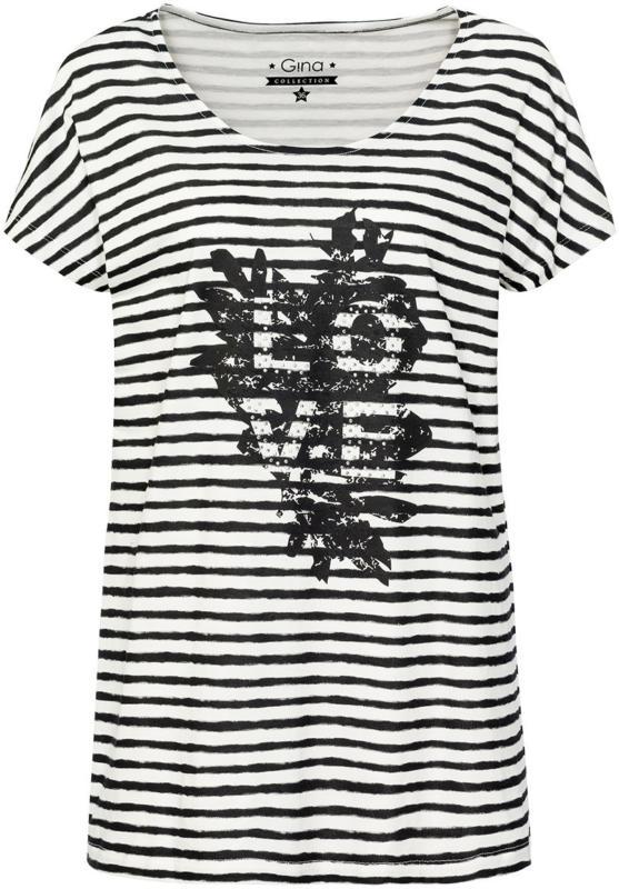 Damen T-Shirt im Streifen-Look