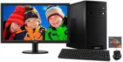 HYRICAN Gaming PC AMD Ryzen? 5 1400 8GB GeForce® GTX 1050 + Monitor »CyberGamer SET1209«