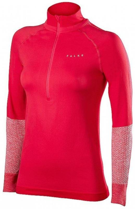 FALKE Damen Laufshirt mit Reißverschluss