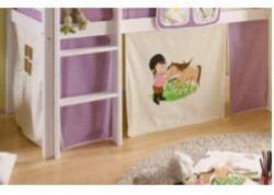 """Vorhang für Hochbett """"Keni"""" Dess: Pony"""