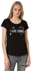 TOM TAILOR DENIM T-Shirt »Print-Shirt mit Applikationen«