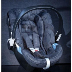 Cybex Aton 2 DENIM - by Lala Berlin - blue