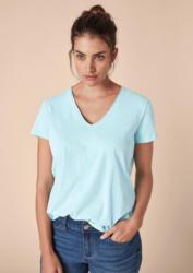 TRIANGLE Basic T-Shirt mit V-Neck