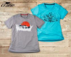 CRANE Damen-/Herren- Wander-Shirt
