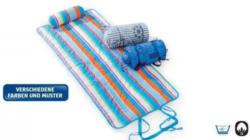Strandmatte mit Nackenrolle
