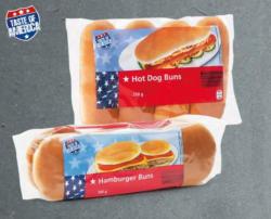 TASTE OF AMERICA Hamburger-/ Hotdog-Brötchen