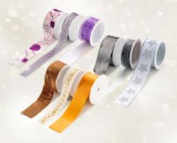 Weihnachts-Geschenkbänder-Set, 3-teilig