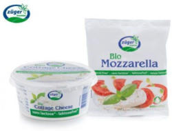 ZÜGER Bio-Laktosefreier Hüttenkäse/Mozzarella