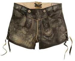 Stockerpoint Trachten-Lederhose Damen kurz im Used Look