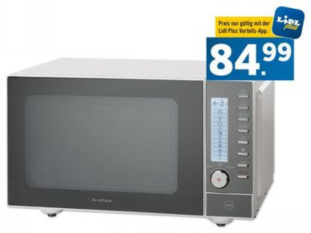 SILVERCREST ® Edelstahl Mikrowelle nur € 89,99 Lidl
