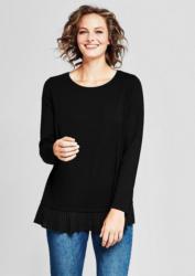 TRIANGLE Jersey-Shirt mit Plissée-Blende