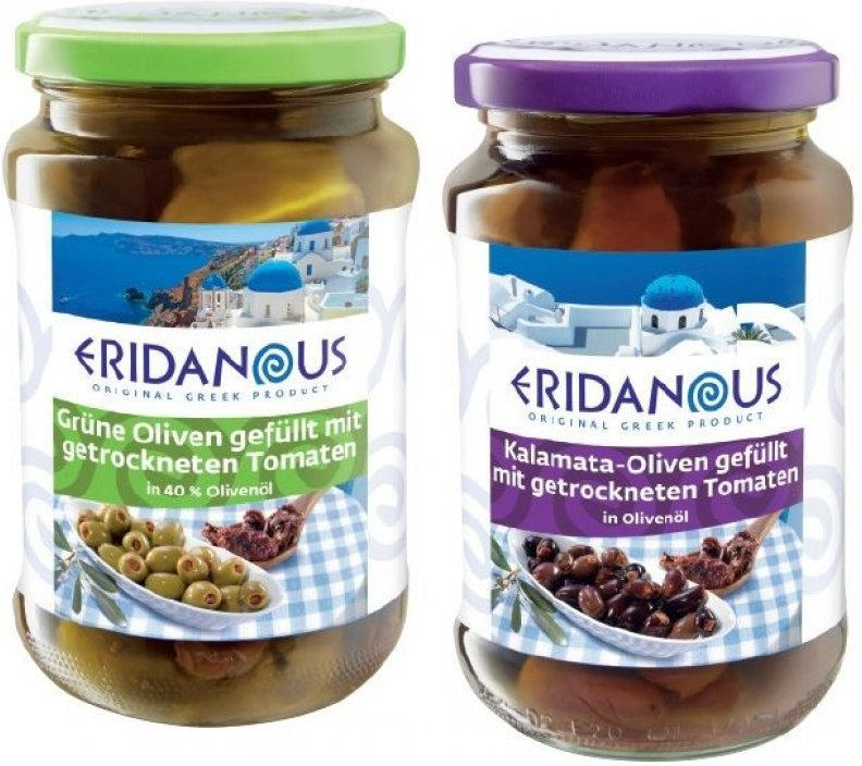 ERIDANOUS Oliven gefüllt mit getrockneten Tomaten