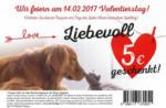 DAS FUTTERHAUS Valentierstag Gutschein - bis 14.02.2017