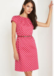 COMMA Feines Businesskleid mit Polka Dot-Muster