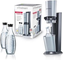 SodaStream Megapack Crystal 1016512491 inkl.1 Alu-Zylinder 60L + 3x Glaskaraffe