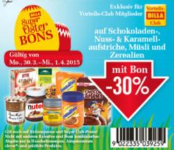 -30% auf Schokoladen-, Nuss- & Karamellaufstriche, Müsli und Cerealien