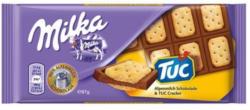 Milka Sandwich mit TUC-Cracker