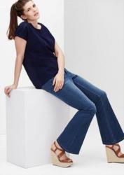 TRIANGLE Regular: Highwaist Flared Jeans