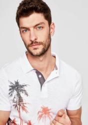 s.Oliver RED LABEL Slim: Poloshirt mit Musterprint