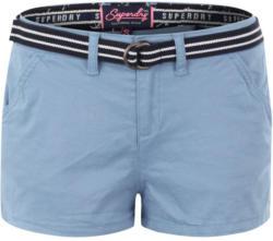 Shorts mit gestreiftem Gürtel