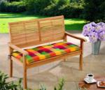 Solax-Sunshine Sitzbank-Auflage, Karo Bunt