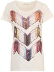 Print-Shirt mit funkelndem Ziersteinbesatz