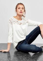 Q/S designed by Shirt mit Spitzen-Insert