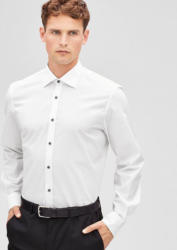 s.Oliver BLACK LABEL Modern Fit: Hemd mit Kontrast-Knöpfen