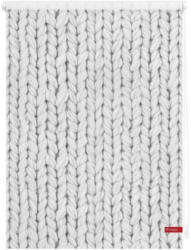Seitenzugrollo »Klemmfix Dekor Strickmuster«, LICHTBLICK, Lichtschutz, ohne Bohren