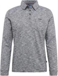 Langarm-Poloshirt in Melange-Optik